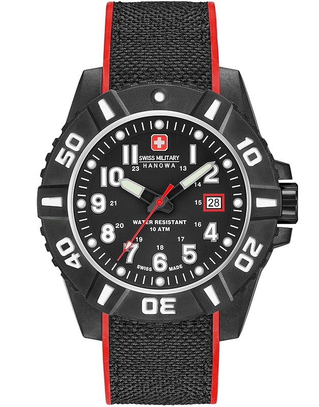 Ceas barbatesc Swiss Military Black Carbon 06-4309.17.007.04
