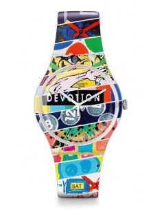 Ceas de dama Swatch White Loop SUOZ170