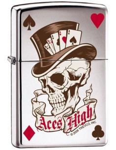 Bricheta Zippo Skull & Aces High 7042
