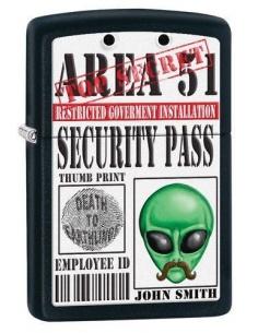 Bricheta Zippo Area 51-Security Pass 28437