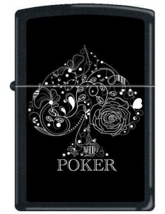 Bricheta Zippo Ace of Spades-Poker 0215