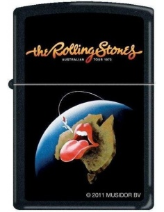 Bricheta Zippo Rolling Stones Tongue Logo Australia 1973 Tour 8192