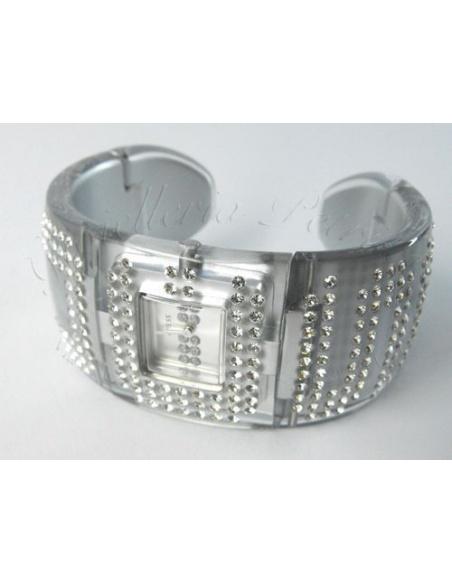 Ceas de dama Guess Crystal Gray Cuff W17518L3