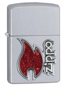 Bricheta Zippo 28847 Red Flame Logo