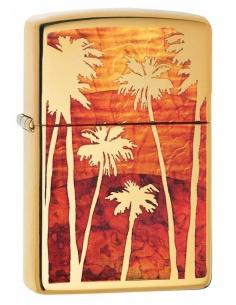 Bricheta Zippo 29420 Palm Trees Sunset Fusion