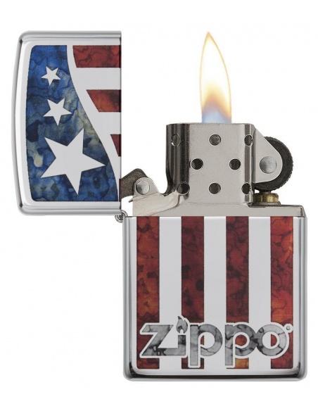 Bricheta Zippo 29095 American Flag Fusion