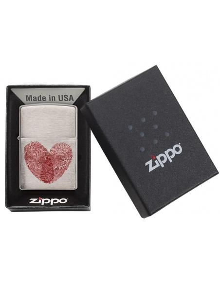 Bricheta Zippo 29068 Heart Fingerprint