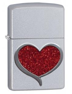 Bricheta Zippo 29410 Red Glitter Heart