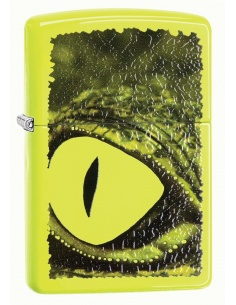 Bricheta Zippo 29414 Alligator Green Eye Neon Yellow