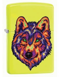 Bricheta Zippo 29639 Neon Wolf Neon Yellow