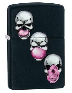 Bricheta Zippo 29398 Skulls With Bubble Gum