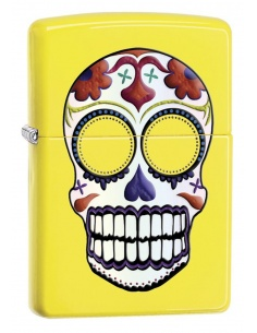 Bricheta Zippo 24894 Skull Day Of The Dead Lemon