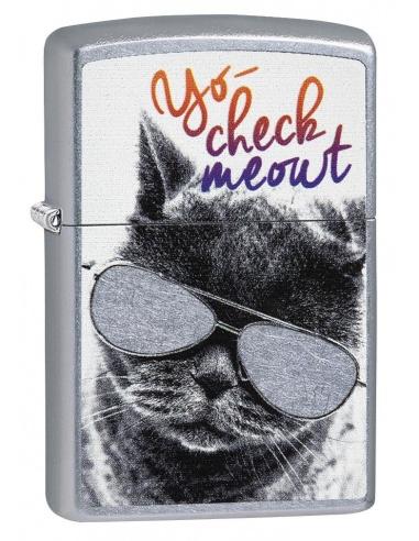 Bricheta Zippo 29619 Cat With Glasses