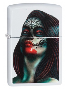Bricheta Zippo 29400 Day of The Dead Lady Tattoo