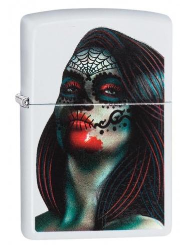 Bricheta Zippo 29400 Day of The Dead Lady Tattoo