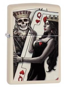 Bricheta Zippo 29393 Skull King Queen Beauty