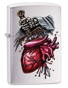 Bricheta Zippo 29406 Dagger Through Heart