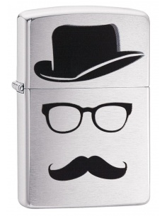 Bricheta Zippo 28648 Moustache and Hat Pocket