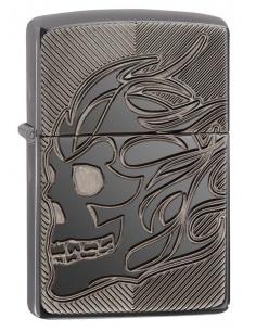 Bricheta Zippo 29230 Armor Deep Carve Skull