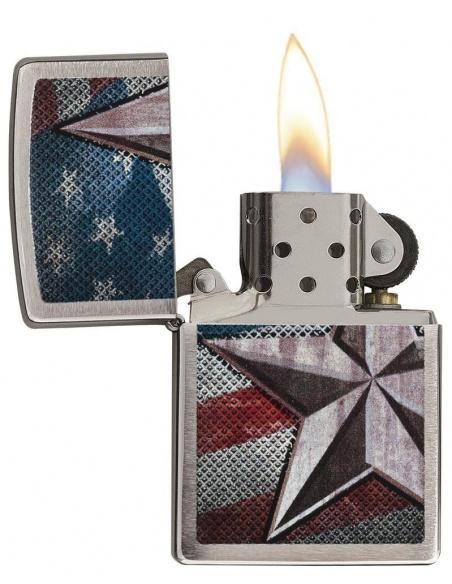 Bricheta Zippo 28653 Retro Star Flag