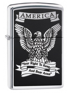 Bricheta Zippo 28290 Eagle Right to Bear Arms