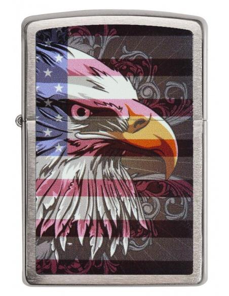 Bricheta Zippo 28652 Eagle and Flag