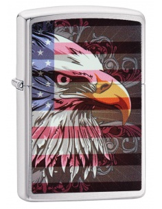 Bricheta Zippo 28652 Eagle and Flag