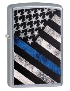 Bricheta Zippo 29551 Blue Line Police Flag