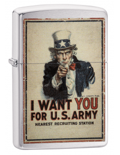 "Bricheta Zippo 29595 Uncle Sam ""I Want You For U.S. Army"""