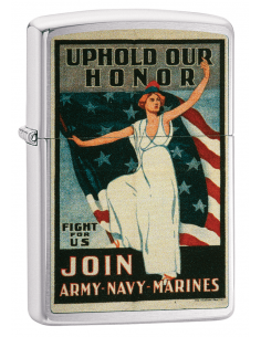 Bricheta Zippo 29599 US Army Navy Marines American War Fight