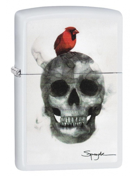 Bricheta Zippo 29644 Spazuk Skull with Bird