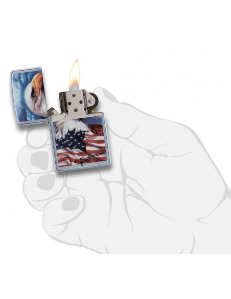 Bricheta Zippo 24764 Mazzi Freedom Americana