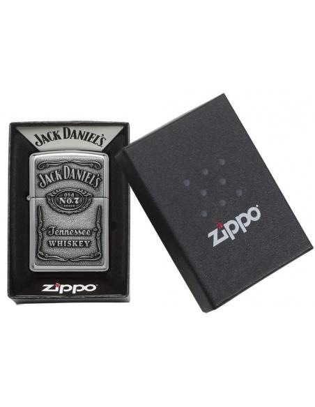 Bricheta Zippo 250JD.427 Jack Daniel's Label Pewter Emblem Classic Spirits