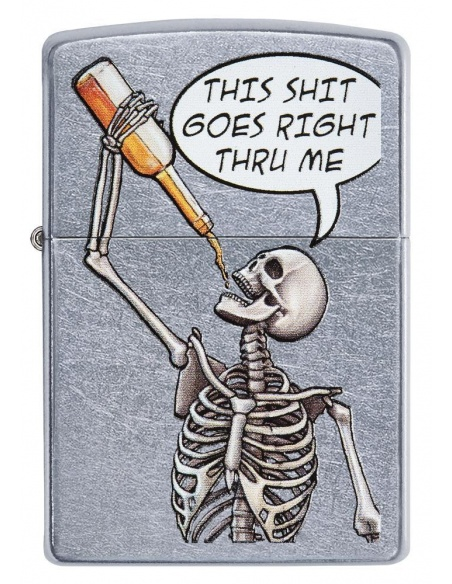 Bricheta Zippo 29613 Drinking Skeleton