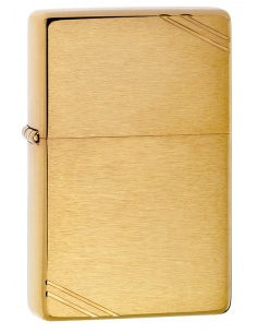 Bricheta Zippo 240 Brushed Brass Vintage with Slashes
