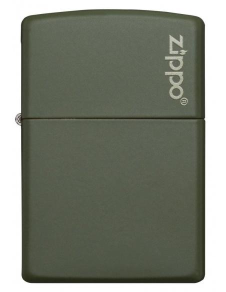 Bricheta Zippo 221ZL Green Matte with Zippo Logo