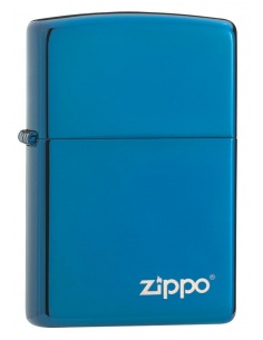 Bricheta Zippo 20446ZL High Polish Blue Zippo Logo
