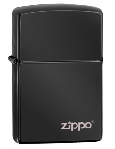 Bricheta Zippo 24756ZL High Polish Black Zippo Logo