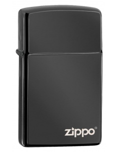 Bricheta Zippo 28123ZL Slim High Polish Black Zippo Logo