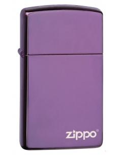 Bricheta Zippo 28124ZL Slim High Polish Purple Zippo Logo