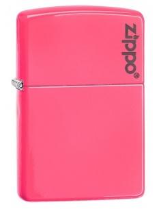 Bricheta Zippo 28886ZL Neon Pink Zippo Logo