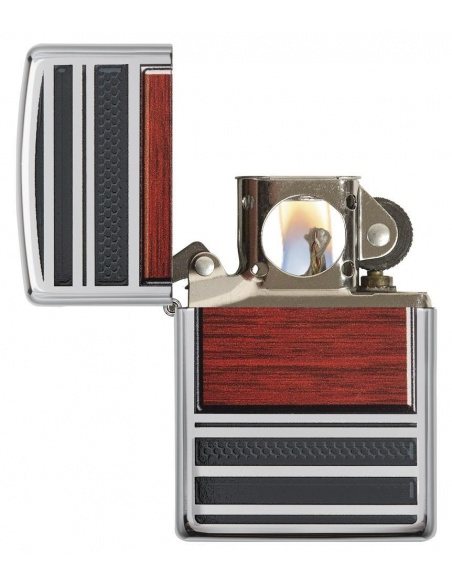 Bricheta Zippo 28676 Steel And Wood Pipe