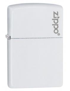 Bricheta Zippo 214ZL White Matte with Zippo Logo