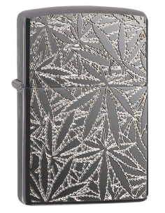 Bricheta Zippo 29834 Deep Carved Marijuana Leaves