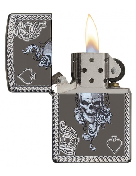 Bricheta Zippo 29666 Ace of Spades-Skull