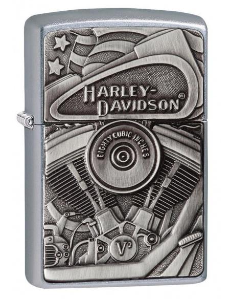 Bricheta Zippo 29266 Harley Davidson-Motor & Flag