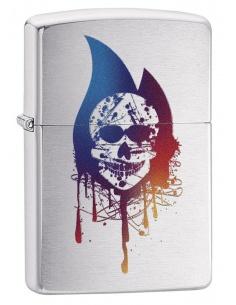 Bricheta Zippo 29721 Colorful Skull-Zippo Flame