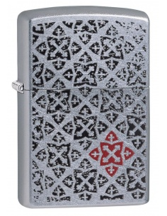 Bricheta Zippo 29720 Black and Red Pattern