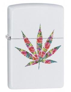 Bricheta Zippo 29730 Floral Marijuana Pot Leaf Design