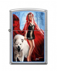 Bricheta Zippo 7655 Mazzi-White Wolf With Woman